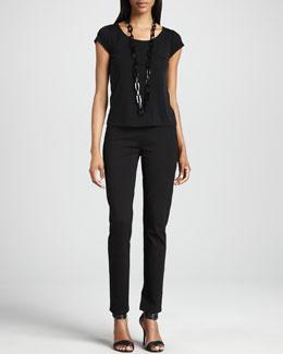 Eileen Fisher Slim Ponte Pants, Women's