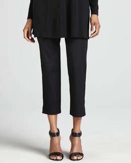 Eileen Fisher Organic Stretch Twill Slim Ankle Pants