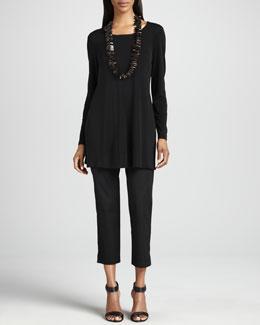Eileen Fisher Organic Twill Slim Ankle Pants, Petite