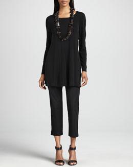 Eileen Fisher Organic Twill Slim Ankle Pants, Women's