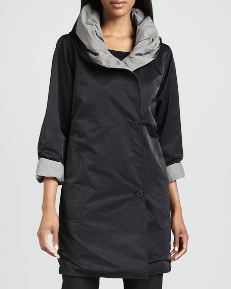 Reversible Hooded Rain Coat