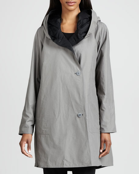 Reversible Hooded Rain Coat, Women's