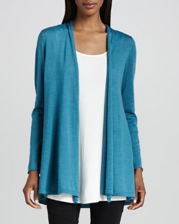Eileen Fisher Merino Long Cardigan, Petite