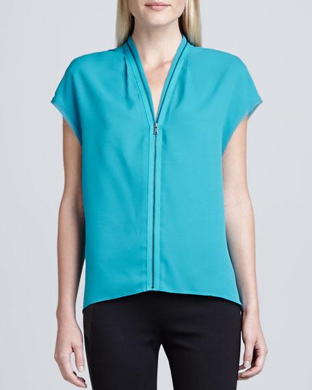 Sisley Zip-Front Blouse
