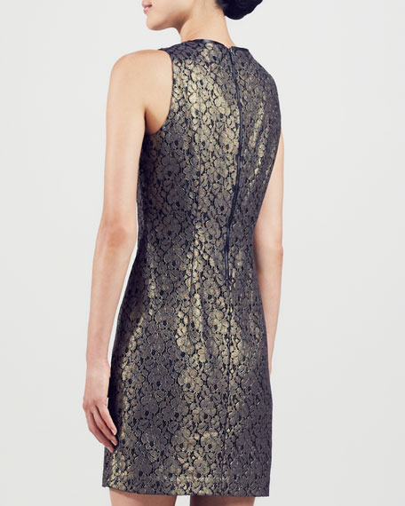 Fran Metallic Lace Dress