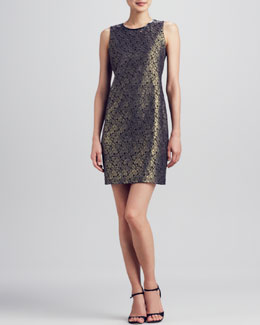T Tahari Fran Metallic Lace Dress