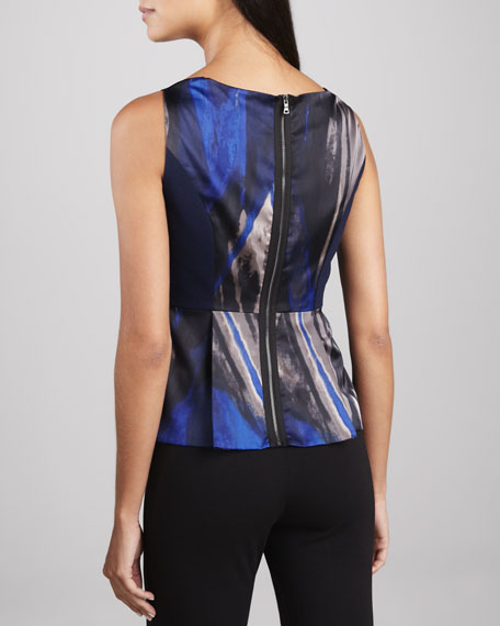 Elinor Printed Peplum Blouse