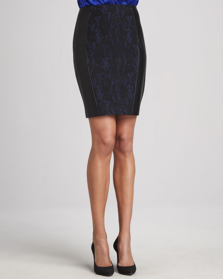 Travern Jacquard Panel Skirt
