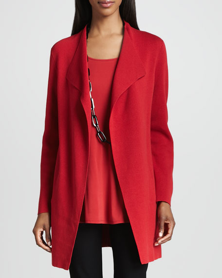 Silk-Cotton Interlock Long Jacket