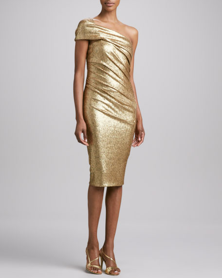 Sequined One-Shoulder Dress