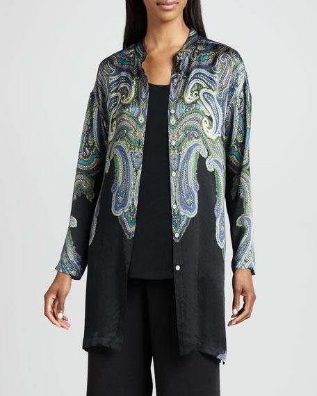 Paisley Printed Silk Jacket