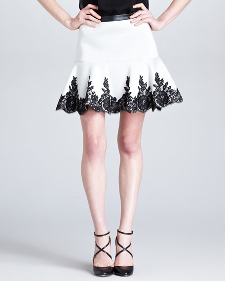 Flippy Lace-Hem Skirt