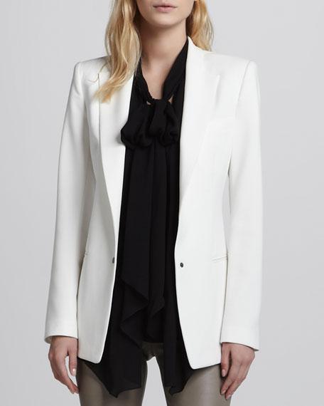 Tech-Fabric Long Tuxedo Jacket