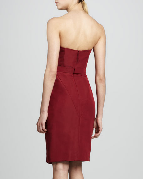 Strapless Dress, Bordeaux