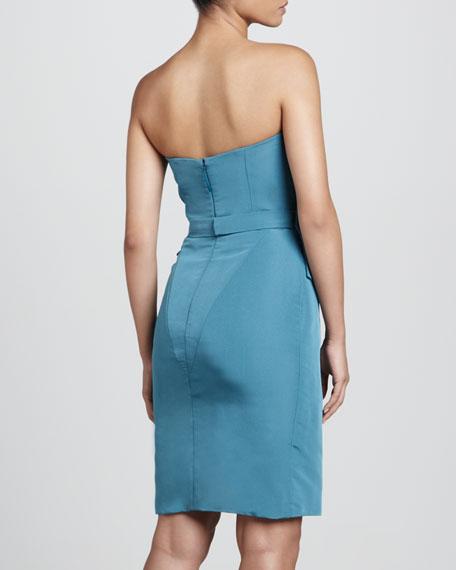 Strapless Dress, Dark Teal