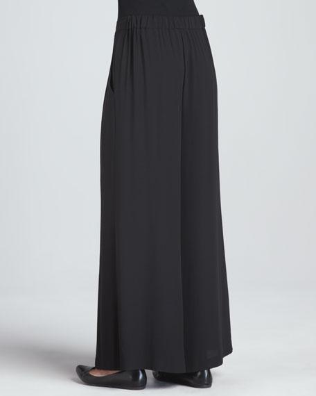 Silk Wide-Leg Pants, Women's