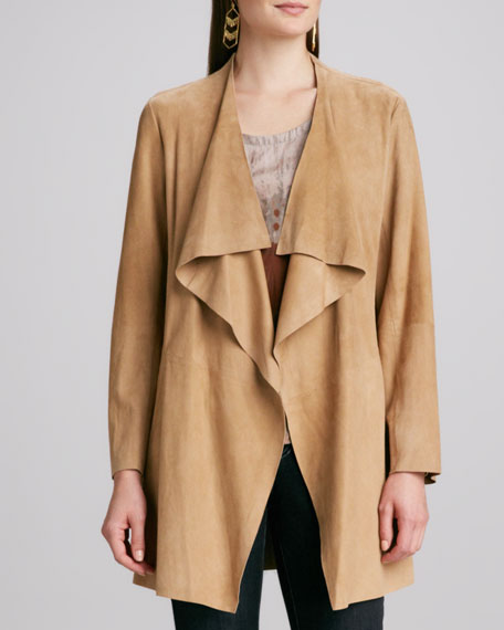 Draped Suede Jacket, Women's