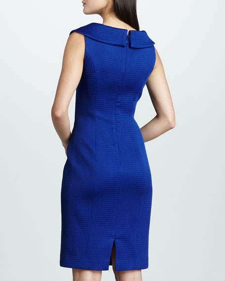 Shawl-Collar Pique Dress
