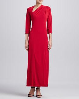 Melissa Masse Millennium Asymmetric Long Dress, Women's