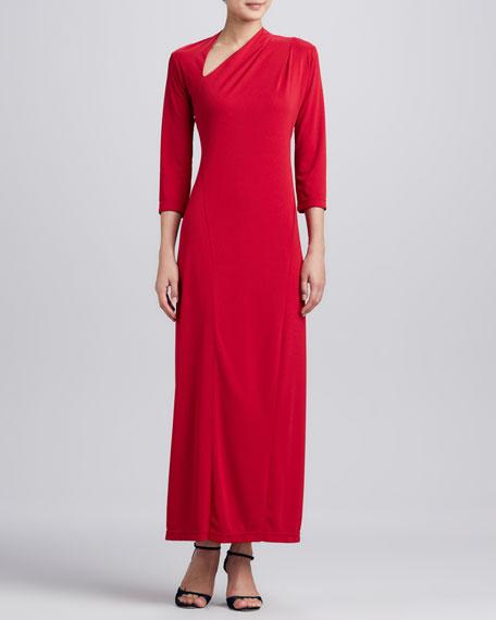 Millennium Asymmetric Long Dress, Women's