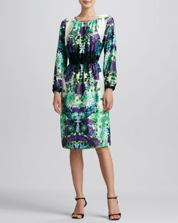 Melissa Masse Vintage Garden Printed Dress