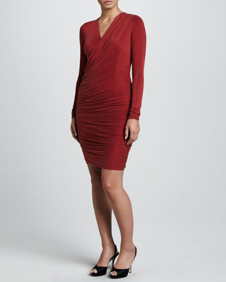 Long-Sleeve Stretch Jersey Dress