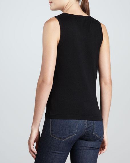 Knit Rayon-Nylon Tank, Petite