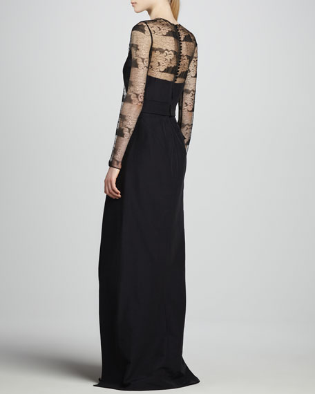 Ottoman & Lace Gown