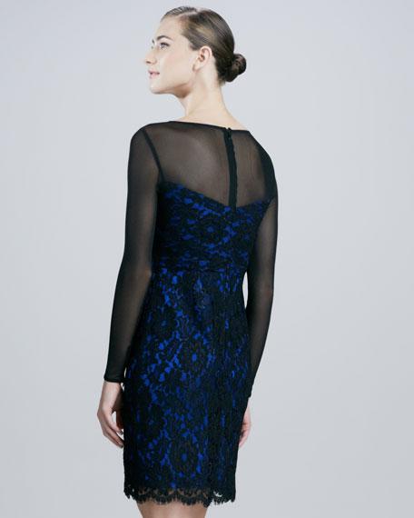 Illusion Lace Cocktail Dress