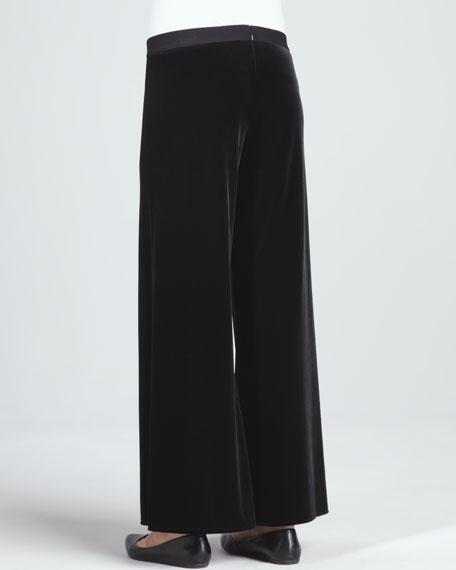 Velour Wide-Leg Pants