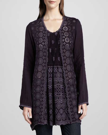 Lacy Rayon Georgette Tunic