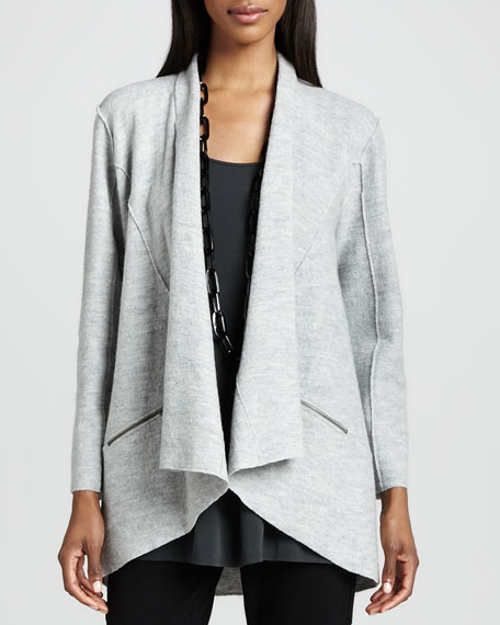 Lightweight Boiled Wool Jacket, Petite