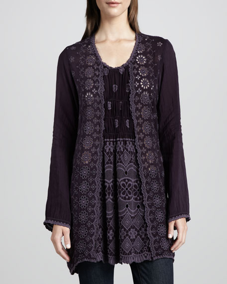 Lacy Rayon Georgette Tunic, Women's