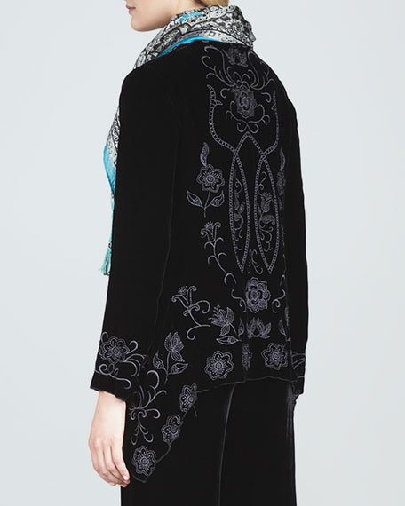 Benni Velvet Embroidered Cardigan
