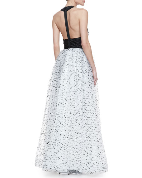 Ecenia Halter-Style Gown