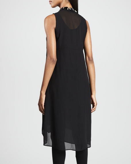 Sheer Silk Georgette Tunic/Dress, Petite