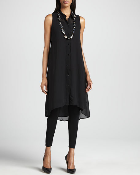 Sheer Silk Georgette Tunic/Dress, Petite