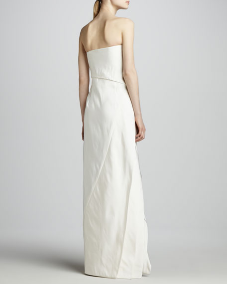Strapless Faille Gown, Ecru