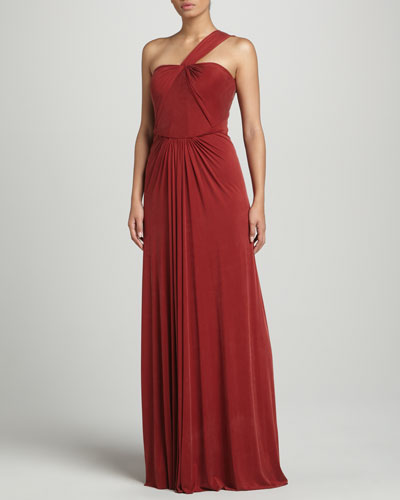 J. Mendel One-Shoulder Gown