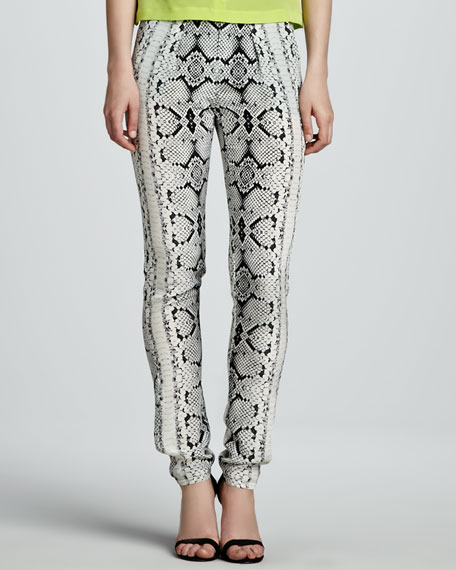 Party Time Snake-Print Pants
