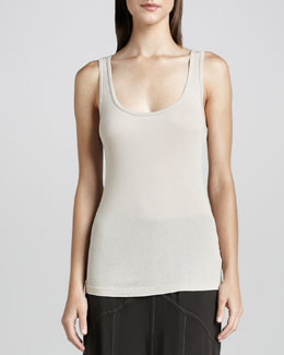 XCVI Basic Slim Cotton Tank, Women's