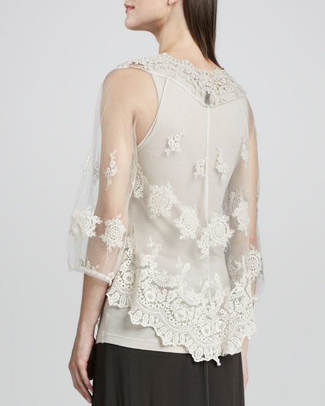 Pierrette Sheer Lace Top