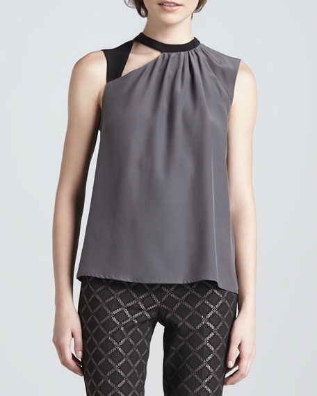 Spice Two-Tone Cutout Top