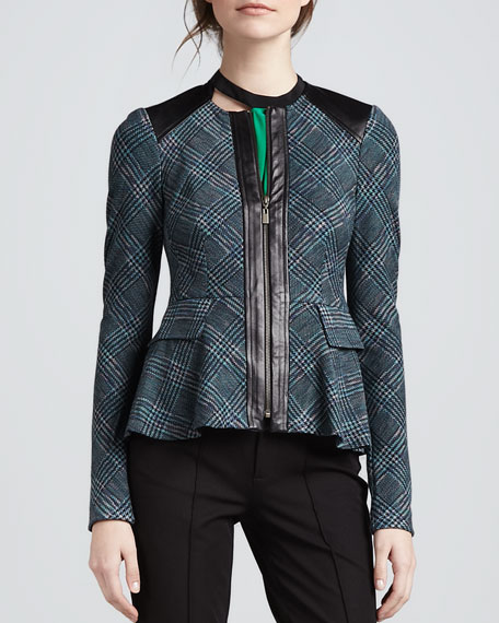 Casablanca Plaid Flare Jacket