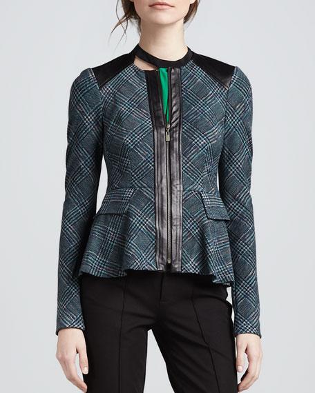 Casablanca Plaid Flare Jacket