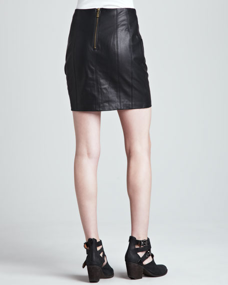 Castle Suede/Leather Skirt