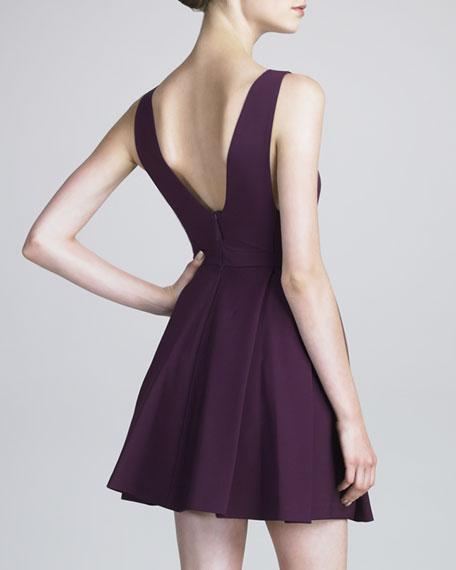 Tech Jersey Plunging-Neckline Dress
