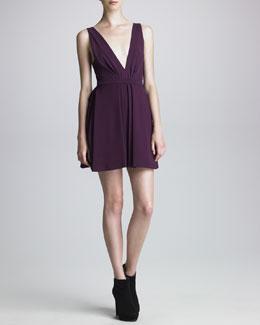 J. Mendel Tech Jersey Plunging-Neckline Dress
