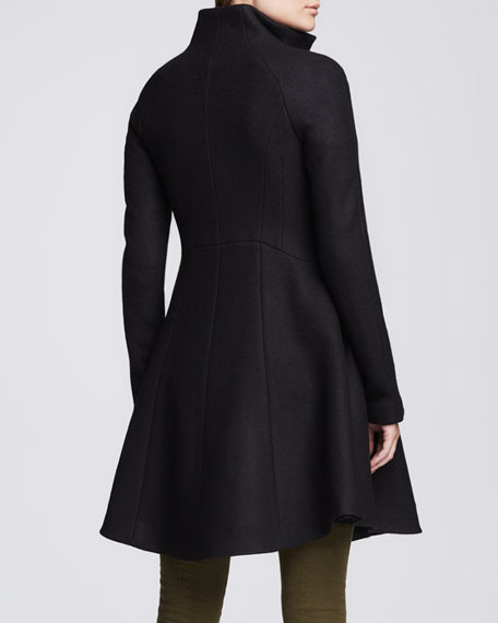 Skyscape Fit & Flare Wool Coat