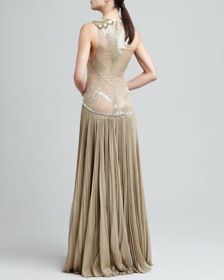 Drop Waist Gown J. Mendel cKaQlqpfBa